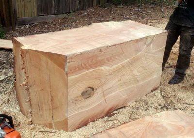 Cedar timber block