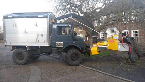 Unimog Chipper truck